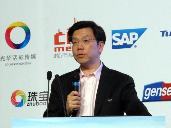 图为创新工场董事长兼首席执行官李开复发言。