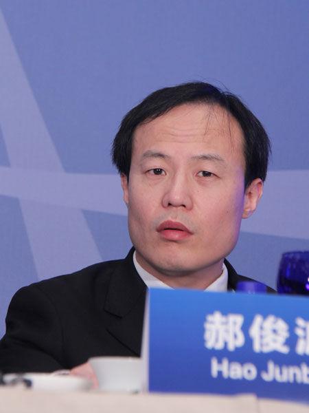 2013年3月2日,三一集团美国风电项目诉讼案第一次庭审情况媒体说明会在北京举行。图为知名律师、国际索赔诉讼专家郝俊波。