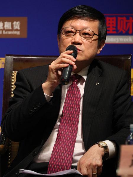 """""""2013中国金融论坛""""于2013年5月21日-23日在北京召开。上图为交通银行首席经济学家连平。(图片来源:新浪财经)"""