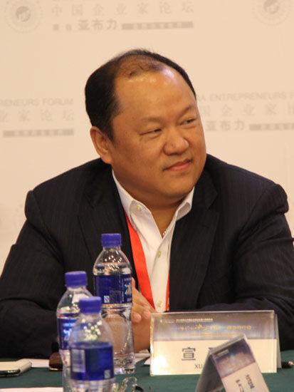 图为:中国自动化集团有限公司董事局主席宣瑞国。(图片来源:新浪财经 骆霄 摄)