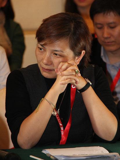 图为诺亚财富CEO汪静波。(图片来源:新浪财经 骆霄 摄)