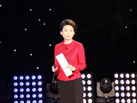 月15日在中央电视台举行.上图为央视主持人王小丫.(图片来源: