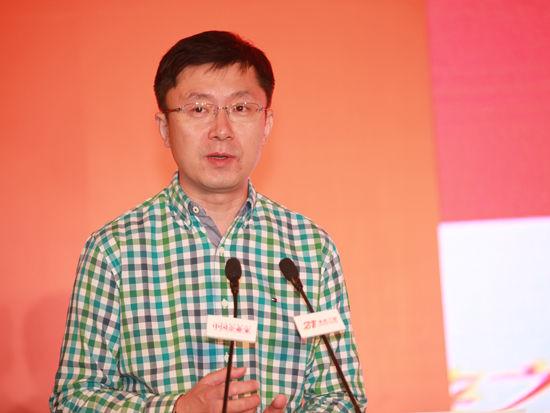 """""""第十四届中国企业未来之星年会""""于2014年6月27日-29日在湖北省咸宁市举行。上图为爱奇艺CEO龚宇。(图片来源:新浪财经 梁斌 摄)"""