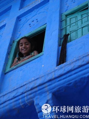 靛蓝色民居 宛若童话的印度老城(组图)