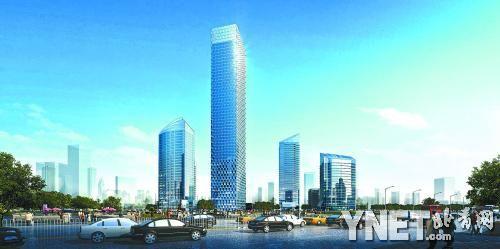 北京cbd将现双子塔建筑群