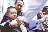 北京市民接种甲型流感疫苗