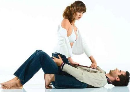 女上男下体位的基本姿势