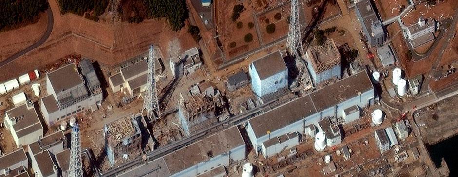 日本福岛第一核电站最新卫星照公布
