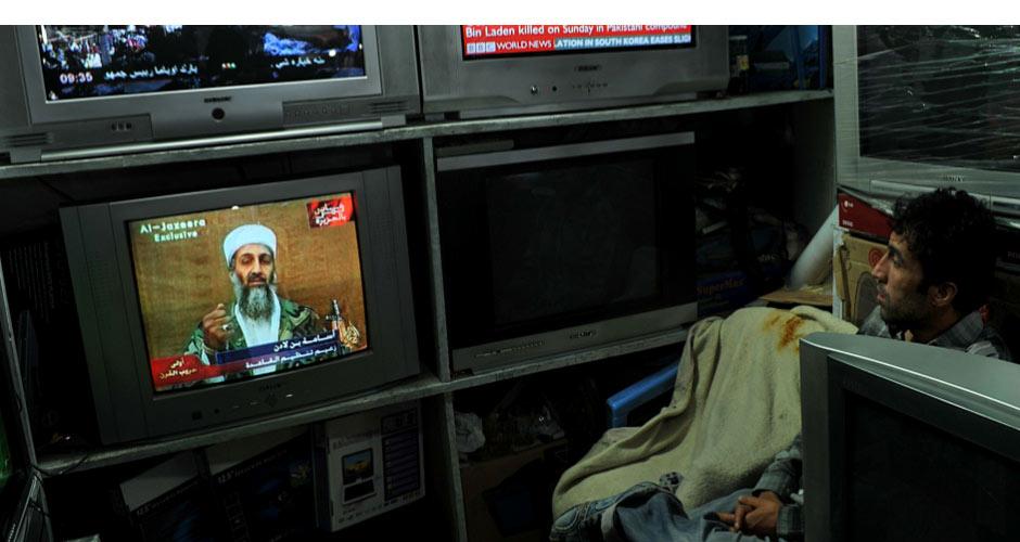 阿富汗民众关注拉登死亡消息