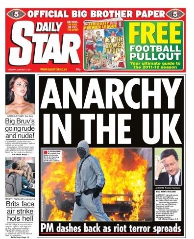 英国《每日星报》:无政府状态