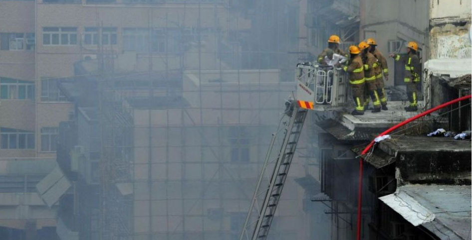 Dozens injured in a blaze in Kowloon, Hong Kong