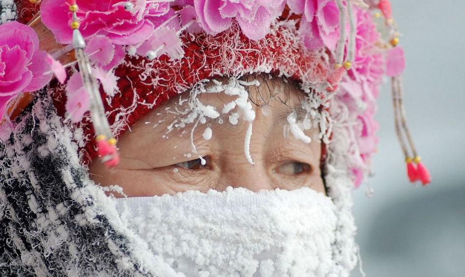内蒙古呼伦贝尔多地出现极寒及冰雾天气