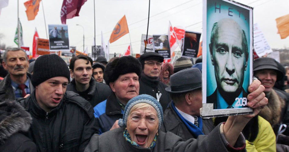 People protest Duma election fraud