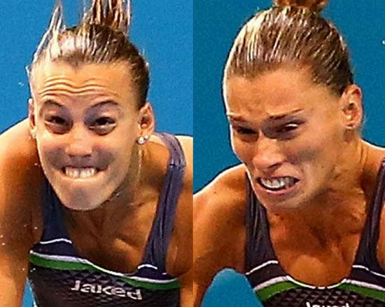 意大利人達拉佩跳水時的表情