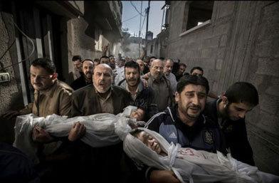 年度图片:加沙葬礼