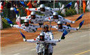 印军逆天摩托车杂耍