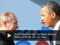 法总统为招待美俄总统要一日吃两顿晚餐