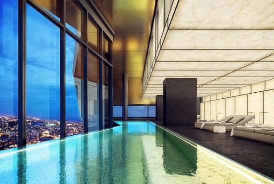 大楼内部的游泳池效果图