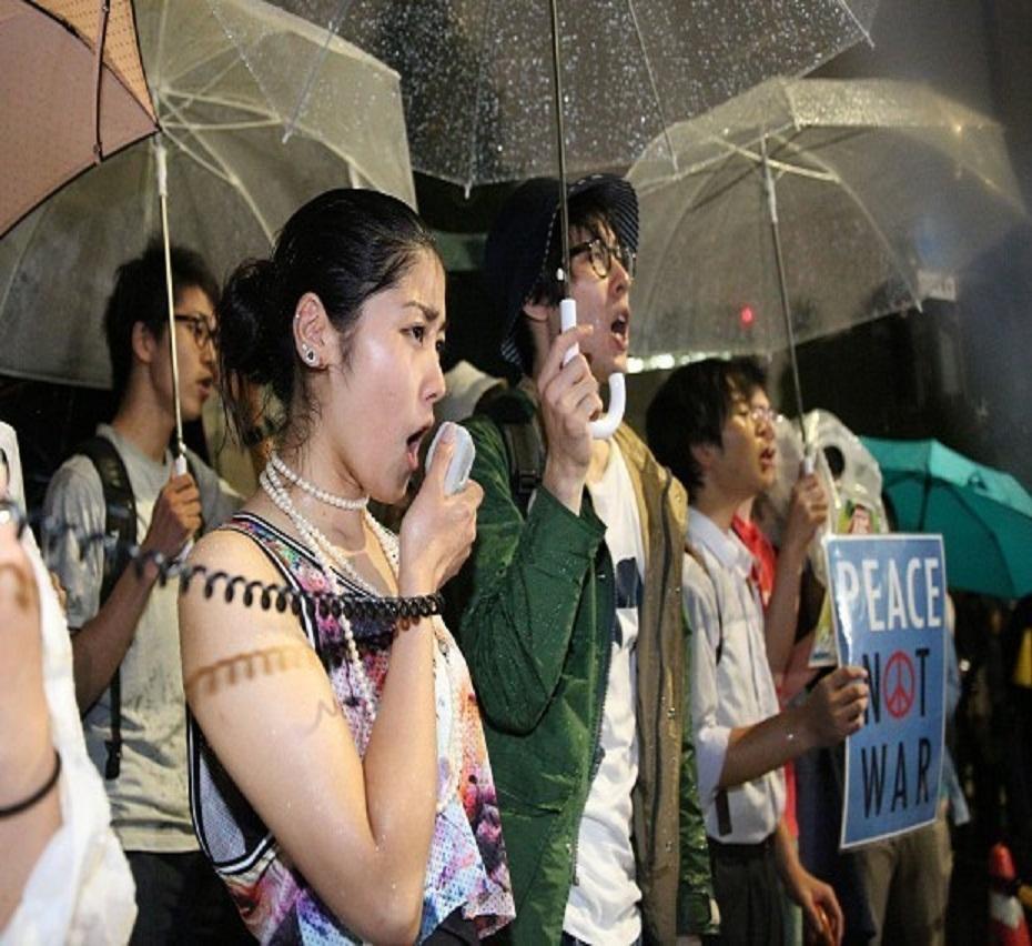 日安保法案审议进入最终阶段 集会人群称将抗争到底