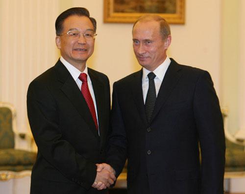 俄罗斯总统普京会见温家宝