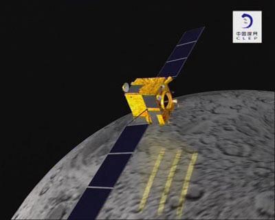 嫦娥一号环月飞行158圈有效载荷公用设备打开