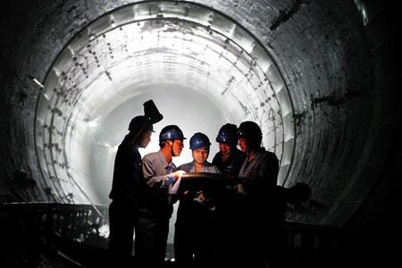 揭秘上海地铁四号线隧道修复工程