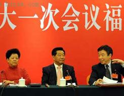 中共中央政治局常委贾庆林看望福建代表团