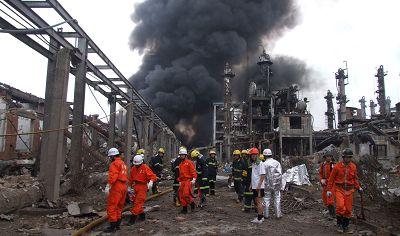 广西宜州化工厂爆炸16死60伤(图)