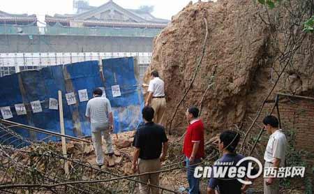 开发商无视副省长批示强拆西安植物园围墙
