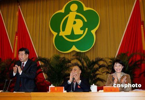 张海迪当选中国残联主席邓朴方任名誉主席(图)