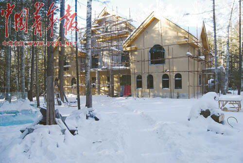 长白山保护区建别墅接待各级领导1400棵树被砍