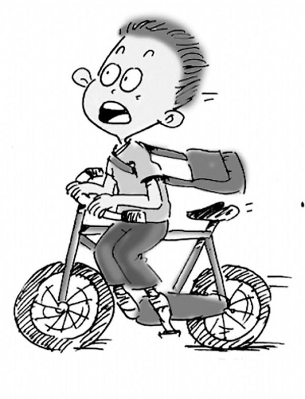 小孩上学路上简笔画