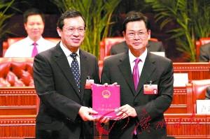 陈云贤当选广东佛山人大主任李贻伟当选市长