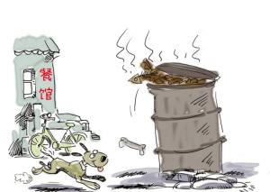 深圳餐厨渣滓多被不法收买部门成地沟油质料
