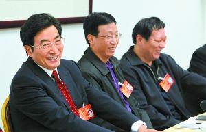 市长郭金龙代表参加怀柔区代表团分组审议。本报记者 戴冰摄