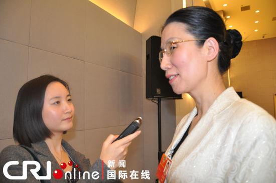 杨佳委员接受国际台记者专访