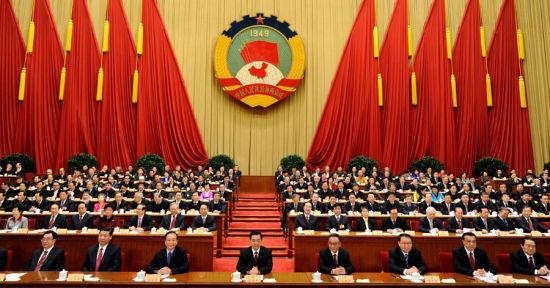 3月13日,中国人民政治协商会议第十一届全国委员会第五次会议在北京闭幕。党和国家领导人胡锦涛、吴邦国、温家宝、李长春、习近平、李克强、贺国强、周永康等出席会议。新华社记者 马占成 摄