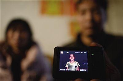 10月8日,家长马仁辉夫妇存在手机里的孩子的照片。照片拍于孩子遇难前三天。