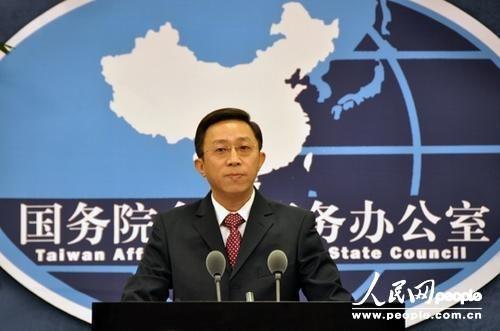 国台办发言人杨毅。(摄影:贺吉)