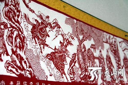 巨幅16米《中华千秋颂》剪纸
