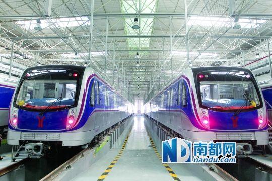 40辆新车将在广州地铁六号线上运行,保证发车间隔约4分钟。