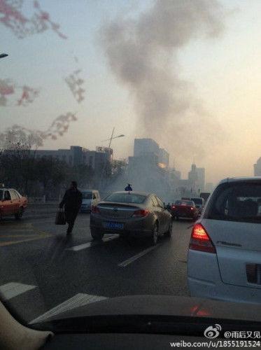 11月6日7时40分左右,位于太原市迎泽大街的山西省委附近连续发生爆炸。(资料图)