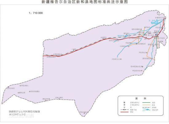 阿克苏地区新和县城地图