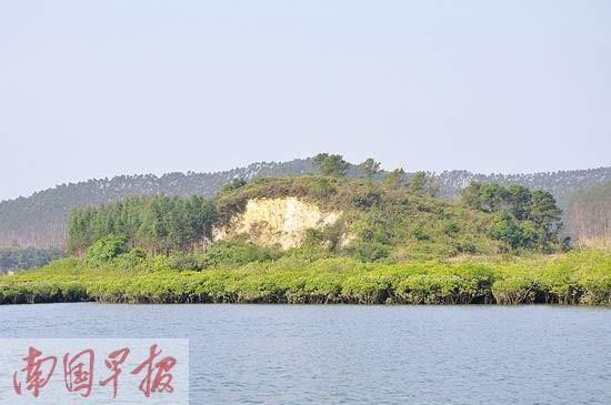 被红树林环绕的穿牛鼻岭。广西 自治区海洋局海域和海岛管理处供图