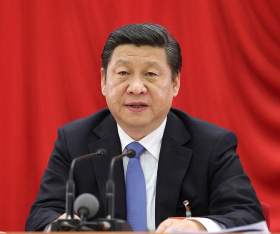 中国共产党第十八届中央委员会第三次全体会议,全会由中央政治局主持,中央委员会总书记习近平作重要讲话。新华社记者 兰红光 摄