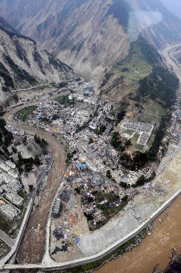 图文:汶川县映秀镇震后景象