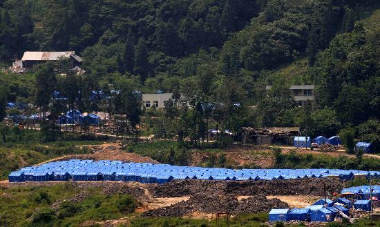 图文:汶川县漩口镇受灾群众安置点