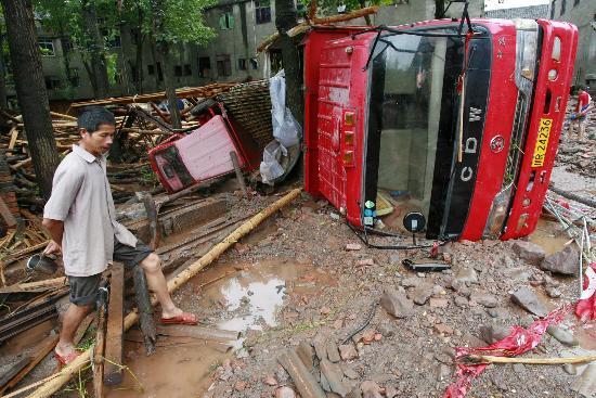 组图:四川遂宁遭受特大暴雨袭击