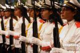 图文:威武的古巴仪仗队女士兵