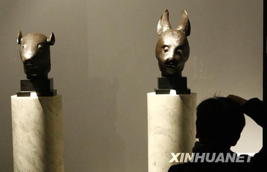 法国法院批准拍卖中国圆明园青铜兽首(组图)